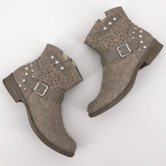 RIEKER | Pearl Stud Short Ankle Bootie Boots